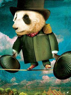 Circus-Circus: Highwire :: © David Vogin Illustration