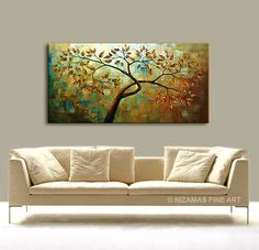 Original Autumn Tree in Blue texture abstract by Artcoast