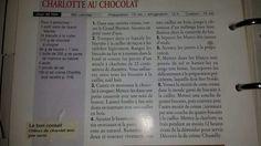Charlotte au chocolat de Marie France
