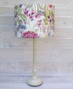 Items similar to Drum lampshade light shade pendant table lamp in Voyage Maison Country Hedgerow cream floral woodland fabric on Etsy Cover Lampshade, Painted Lampshade, Paper Flower Decor, Flower Decorations, Lampshade Designs, Lampshade Ideas, Fun And Easy Diys, Decorative Lamp Shades, Woodland Fabric