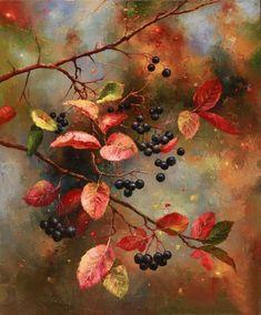 Fruit Painting, Autumn Painting, Autumn Art, Watercolor Leaves, Watercolour Painting, Painting & Drawing, Color Pencil Art, Fruit Art, Leaf Art