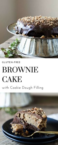 I am officially obsessed with this Gluten-free Brownie Cake with Cookie Dough Filling. OBSESSED!!! Can you really blame me? It is basically all the great desserts in one delicious cake. Earlier this week I posted the recipe for some gluten-free vegan cookie dough in preparation for this recipe. I could not be more proud of …