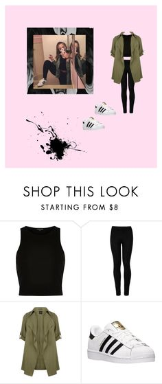 """""""Casual baby Ariel ✨"""" by slaytrendy ❤ liked on Polyvore featuring River Island, Wolford, New Look and adidas"""