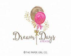 Ready-made logo design-Party logo-Balloon logo-Party interior logo-Party supply logo-Event planner logo-Event design logo-Birthday - dükkan - Party Logo, Balloon Logo, Cupcake Logo, Event Logo, Decor Logo, Watercolor Logo, Event Planning Business, Wedding Event Planner, Custom Logo Design