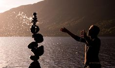 Check out his website!!!! There is nothing holding the rocks together except equilibrium! G.