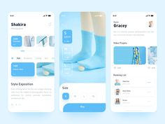 Photography UI - Blue designed by Angelia Lee for CoCo. Connect with them on Dribbble; Ui Design Mobile, App Ui Design, Flat Design, Design Design, Mobile App Ui, Mobile Code, Ui Design Inspiration, Daily Inspiration, Apps