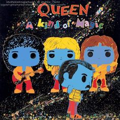 Great Bands, Cool Bands, Girl Playing Soccer, Queen Art, John Deacon, Freddie Mercury, Funko Pop, Musicals, Fan Art