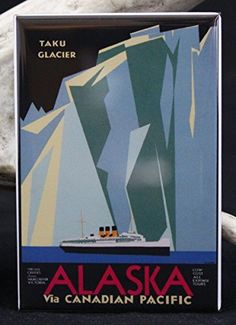 Alaska Vintage Travel Poster Refrigerator Magnet *** This is an Amazon Affiliate link. To view further for this item, visit the image link.