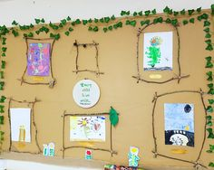 """Beautiful and simple.our Hollinswood after school club love adopting the curiosity approach too. They love making resources for the…"""" School Displays, Classroom Displays, Curiosity Approach Eyfs, Eyfs Classroom, Creative Area, After School Club, School Clubs, Forest School, Little Learners"""