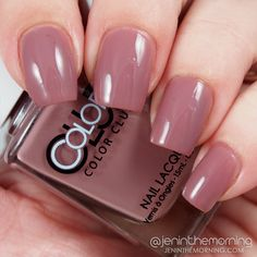 Color Club Shift Into Neutral - Get a Mauve On It   #nail #nails #mani #manicure #jeninthemorning #tutorial