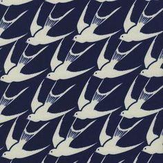 Cotton and Steel House Designer - Bluebird - Flock in Indigo