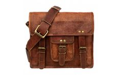 Small Vintage Leather Satchel, front