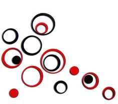 Indoors Decoration Circles Stereo Removable Art Wall Stickers Wall Sticker Decal DIY poster Home decor adesivo de parede UY Wall Painting Decor, 3d Wall Art, Wall Stickers Red, Floral Border, Border Design, Sticker Shop, Geometric Shapes, Wall Design, How To Remove