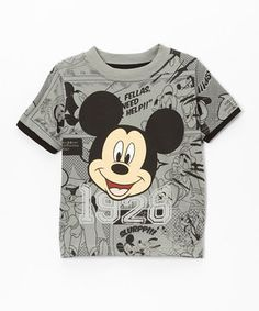 Another great find on #zulily! Gray & Black Mickey Tee - Toddler by Mickey Mouse #zulilyfinds