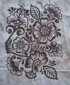 Judy Coates-Perez design for Thermofax printing on fabric. Super yummy.