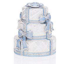 Luxury bags by Judith Leiber. Borse esclusive per eventi alla moda Judith Leiber, Bolo Fashionista, Crystal Cake, Unique Purses, Unique Handbags, Unique Bags, Blue Bow, Boy Blue, Vintage Purses