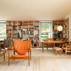 The Chieftain Chair in Finn Juhl's home | Marie Claire Maison