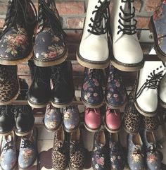 MY DREAM CLOSET! Although this reminds me of all my Docs I've had throughout my life!