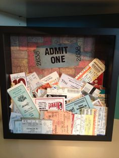 Ticket Shadow box - keep all your ticket stubs in one place!