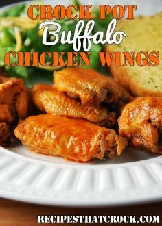 Crock Pot Buffalo Chicken Wings - Recipes That Crock! by Evelyn Sauer