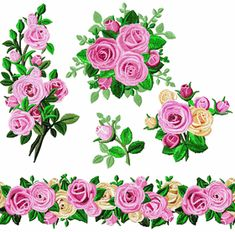 Crown Majesty Roses Machine Embroidery Designs on sale now for $1 for the set!