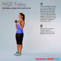 This Lunge Variation Works Your Legs and Abs Like a Boss  http://www.womenshealthmag.com/fitness/fitgif-friday-reverse-lunge-with-rotation
