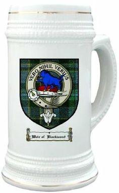 Weir blackwood Clan Crest / Clan Badge 22 oz. Stein Mug