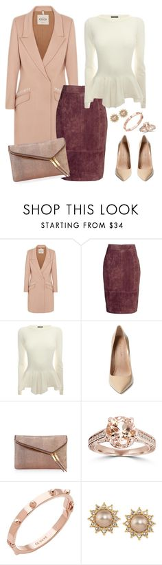 """Soft and feminine"" by anchilly23 ❤ liked on Polyvore featuring Tod's, H&M, Alexander McQueen, Maiden Lane, Henri Bendel, Bliss Diamond, CC SKYE and Carolee"