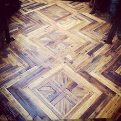 #palletfloor #reclaimedwood