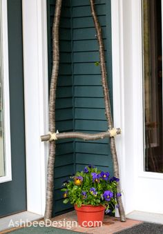 Ashbee Design: A Ladder of Branches • DIY