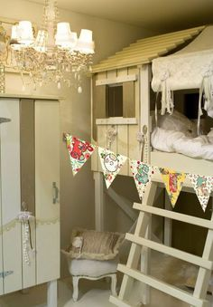 Shabby Chic Treehouse Bed!  So cute!