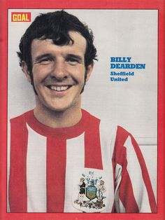 July Sheffield United centre forward Bill Dearden, at Bramhall Lane. Sheffield United, Golden Age, Centre, Red And White, The Unit, Football, Goals, Baseball Cards, Sideburns