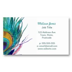 19 best native american business cards images on pinterest peacock feather business card colourmoves