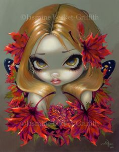 Red Maple Fairy - Strangeling: The Art of Jasmine Becket-Griffith