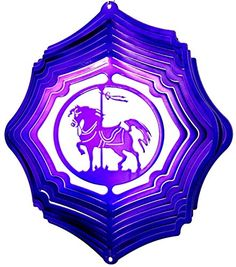 Carousel Horse Raspberry/Purple Starlight Wind Spinner, M...