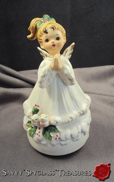 Vintage Josef Originals Praying Christmas Angel Music Box Silent Night | eBay