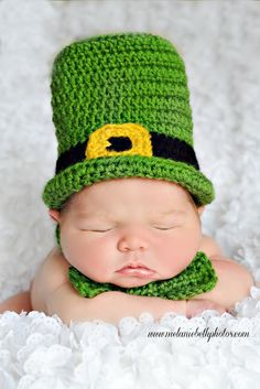 St. Patrick's Day newborn