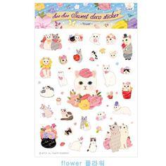 Jetoyl Choo Choo Cat Character Deco Sticker Diary Cute Lovely Kawaii Flower #Jetoy #paperstickers