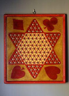 primitive game boards | Rare Beautiful Primitive Game Board Chinese by poppyhillfarm