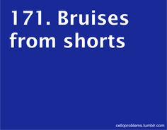 Or your shorts riding up to a very high length if you have any sort of thighs what so ever and making it awkward for your stand mate and you!!!