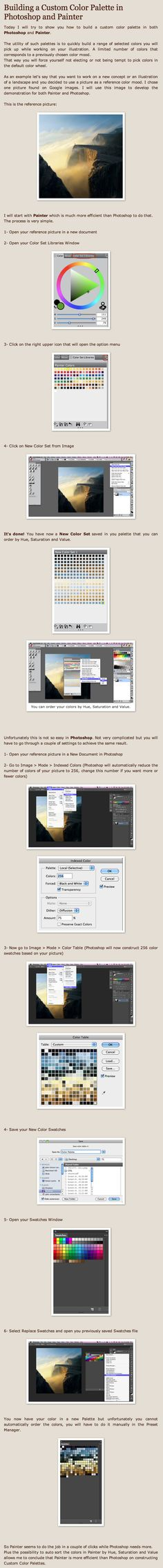 Building a Custom Color Palette in Photoshop and Painter by Simon Loche