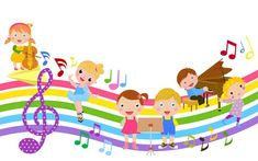 Cartoon children and music. Illustration of cute cartoon children and music , Music For Kids, Art For Kids, Children Music, Kids Background, Mother Art, School Clipart, Music Images, Paint Party, Cartoon Kids