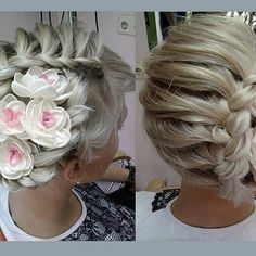 Bridal Hair - Upstyles with Braids and Floral Effect