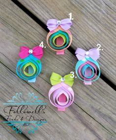 Easter Egg Ribbon Sculpture Hair Clips $5