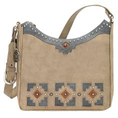 American West Sand Annie's Secret Collection Shoulder Bag with Secret Compartment - HeadWest Outfitters