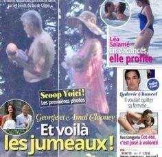 """New dad George Clooney is set to sue a French Tabloid that published photos of his twins.  The magazine Voici became the first tabloid to publish photos of the twins Alexander and Ella without the couple's consent. In the photo the beautiful kids could be seen been carried by their parents Amal and George at their Lake Como estate in Italy with the tile """"the very first pictures of the twins in the arms of their parents. Do not miss all our exclusive photos.""""  Reacting to the publication…"""