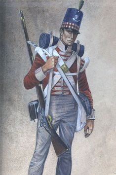 Napoleonic Military Paintings/Sketches/Uniform Plates - page 7 - Historical Discussion - Flying Squirrel Entertainment British Army Uniform, British Uniforms, Military Couples, Military Love, British History, American History, Napoleonic Wars, American Soldiers, Military History