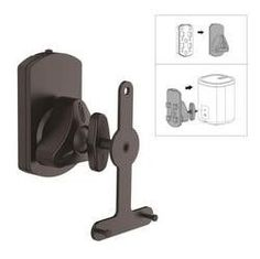 Universal Wall Mount Speaker Stand, Tilt/Swivel Adjustable (Works with Sonos PLAY 1, PLAY 3)