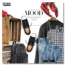 """Check Shirt - yoins.com 2/24"" by bynoor ❤ liked on Polyvore featuring Converse, AG Adriano Goldschmied and Linda Farrow"