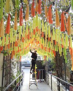 tassel garland canopy